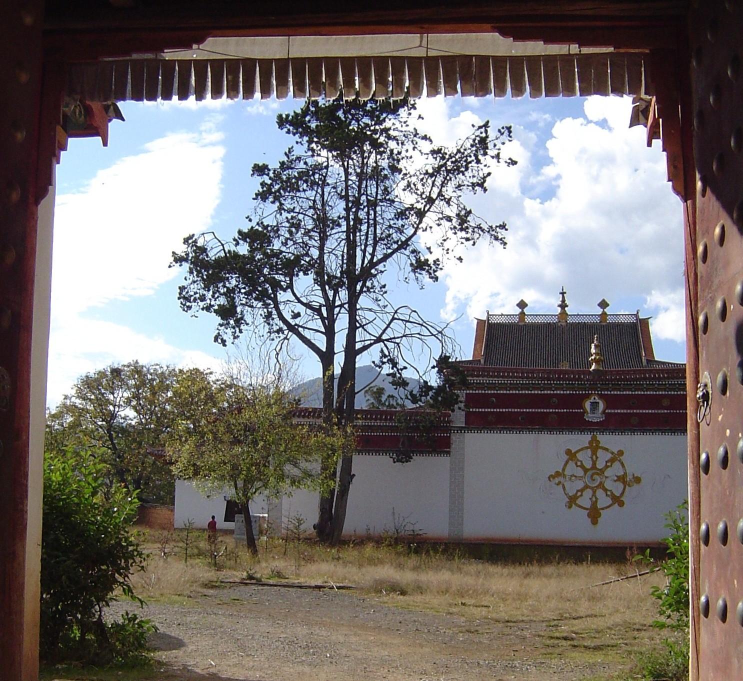 Vue de l'intérieur du monastère de Yongning