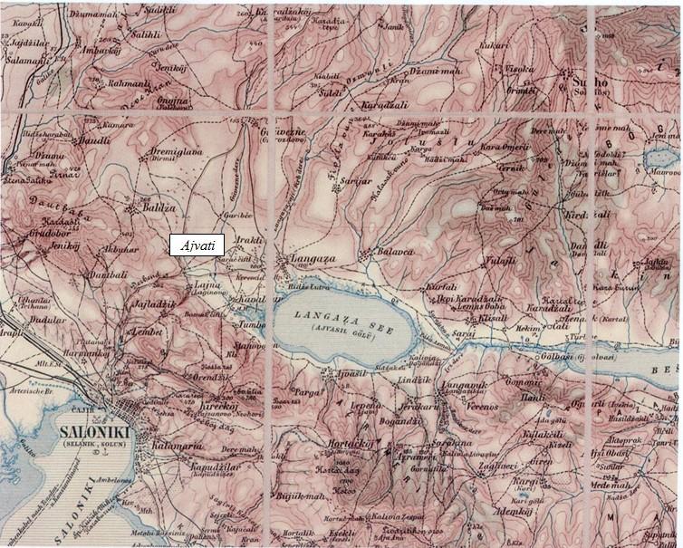 carte 1903 village de Ajvati