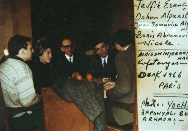 Tevfik Esenç et Orhan Alparslan (Paris, 1966). Source : collection de la famille Esenç